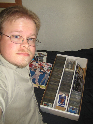 Me and my Griffey card collection!