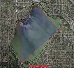 Seattle's Green Lake in Polygons