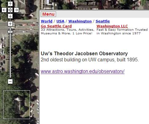 The University of Washington Observatory on Wikimapia